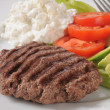 Grilled sirloin patty — Stockfoto