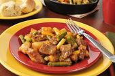 Geschmortes rindfleisch und kartoffeln — Stockfoto