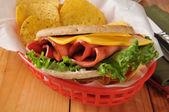 Fried bologna sandwich — Stock Photo
