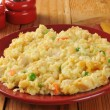 Stock Photo: Homemade chicken rice casserole