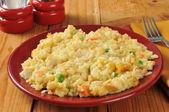 Homemade chicken rice casserole — Stock Photo