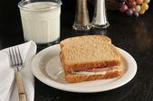 Baloney sandwich — Stock Photo