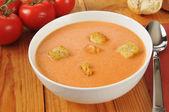 Romige tomatensoep — Stockfoto