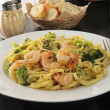 Shrimp linguini — Stock Photo #37917783