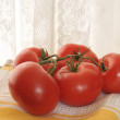 Stock Photo: Vine ripened tomatoes