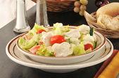 Bowl of crab salad — Stock Photo
