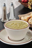 Potato leek soup — Stock Photo