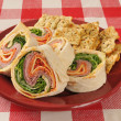 Wrap sandwich wiht Italian meats and cheeses — Stock Photo #40819695