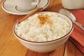 Boled rice with milk — Stock Photo