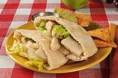 Chicken Caesar pita sandwich — Foto de Stock