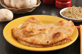 Tandoor baked naan bread — Stock Photo