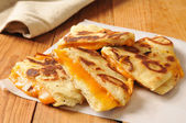 Grilled cheese sandwich on naan bread — Foto de Stock