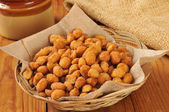 Honey roasted peanuts — Stock Photo