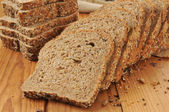 Sprouted grain and seed bread — Stock Photo