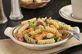 Bowl of Mediterranean Pasta Salad — Stock Photo