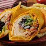 Chipotle chicken wrap sandwich — Stock Photo #43336107