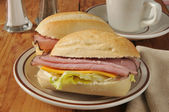 Ham and cheese sandwich — Stock Photo