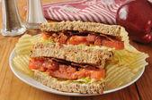 BLT Sandwich on Whole Wheat Bread — Stock Photo