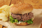 Thich hamburger — Stock Photo