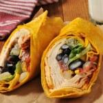Southwestern chipotle chicken wrap sandwich — Stock Photo #43840975