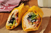 Southwestern chipotle chicken wrap sandwich — Stock Photo