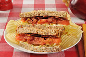 Sandwich on grain bread — Stock Photo