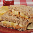 Peanut butter and banana sandwich — Stock Photo #44924445
