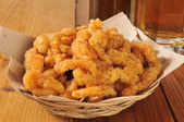 Breaded clam strips — Stock Photo