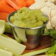 Fresh vegetables and guacamole — Stock Photo #45403867