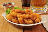 Calamari and beer — Stock Photo