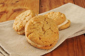 Peanut butter sandwich cookies — Stock Photo