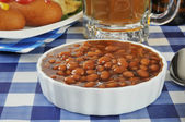 Country style baked beans — Stock Photo