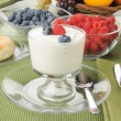 Yogurt and berries — Stock Photo #49393379