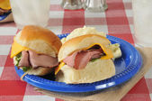 Roast beef sliders — Stock Photo