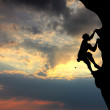 Free climbing at sunset — Stock Photo #12649205