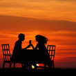 Dinner at sunset — Stock Photo