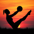 Fitness at sunset — Stock Photo