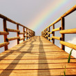 Stock Photo: Bridge in rainbow