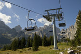 Chairlift on the mountain — Stock Photo