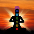 Royalty-Free Stock Photo: Humans chakras