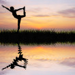 Yoga silhouette - Stock Photo
