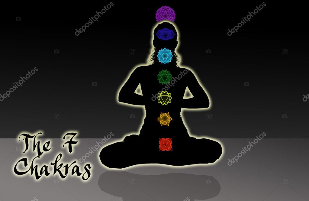 Humans chakras  Stock Photo #13184956