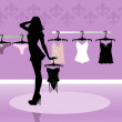 Lingerie shop — Stock Photo