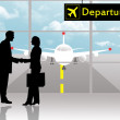 Departures in airport — Stock Photo