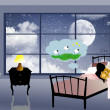 Dream illustration - Foto de Stock  