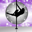 Foto Stock: Pole dance
