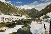 Livigno lake — Stockfoto