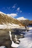 Frozen lake — Stockfoto