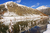 Livigno lake — Stock fotografie