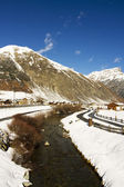 Livigno lake — Stock Photo